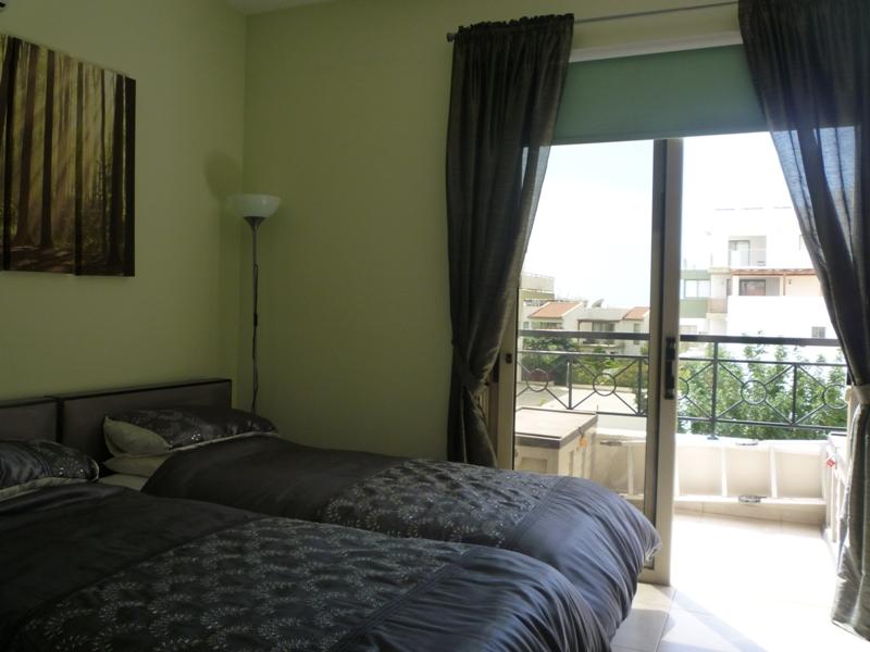 Bedroom overlooking gardens